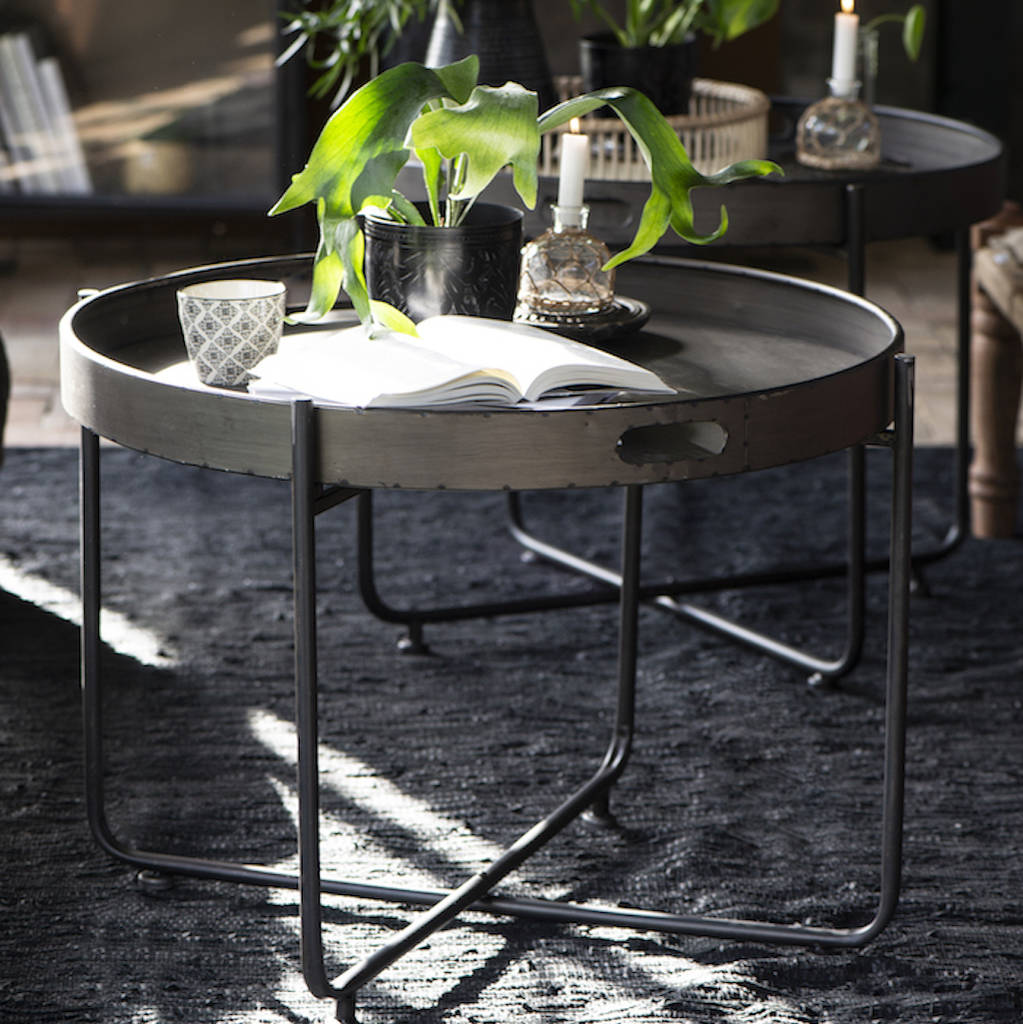 Slim Legged Metal Tray Table By The Forest Co Notonthehighstreet Com