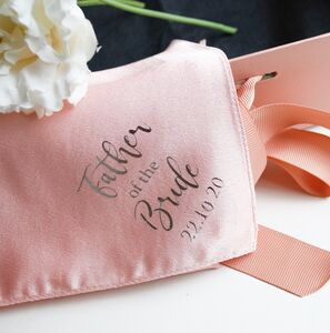 Personalised Father Of The Bride / Groom Handkerchief