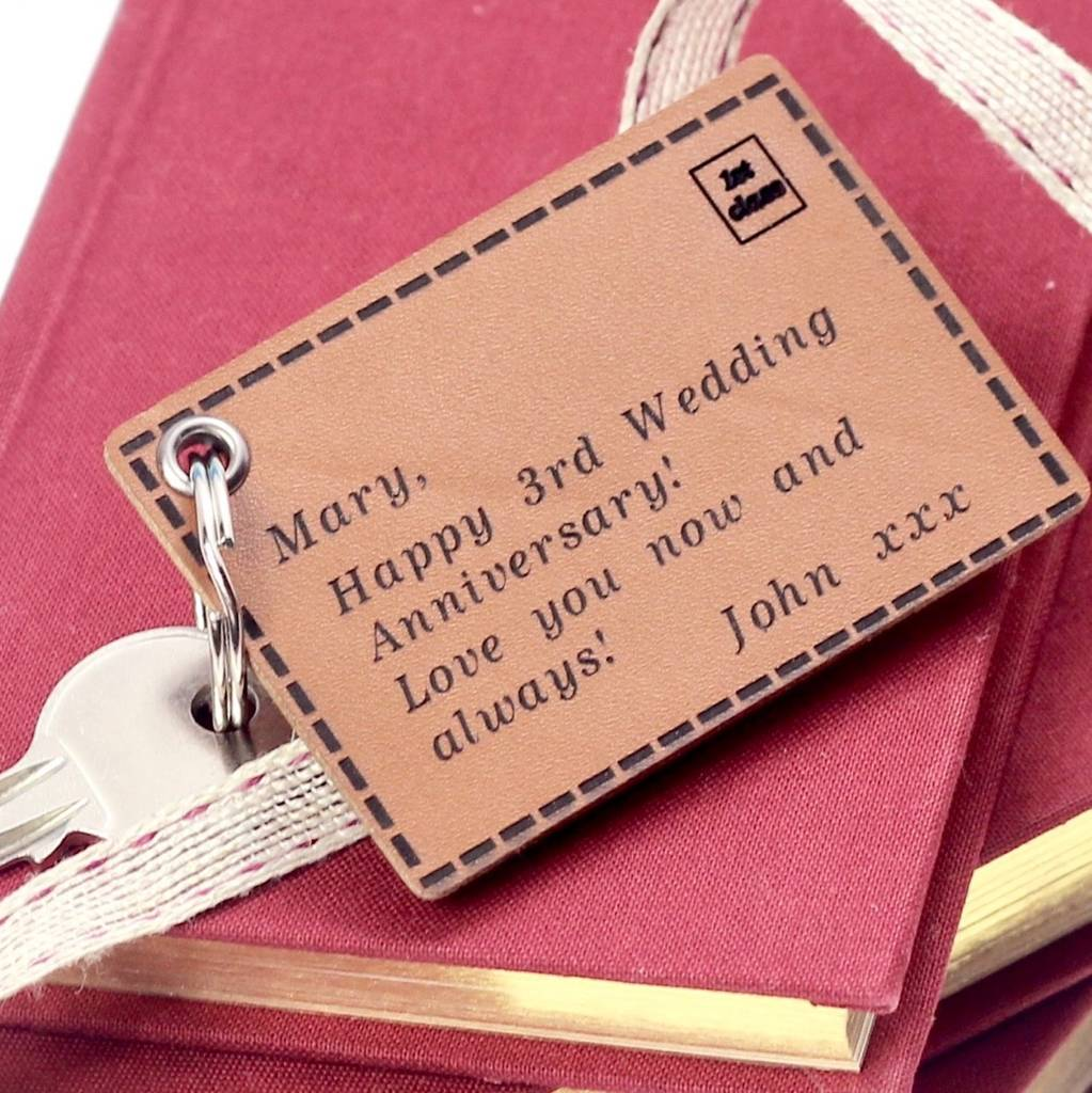 3rd Wedding Anniversary Gifts | Leather Anniversary Gift Ideas ...