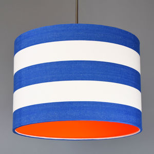 Deckchair Stripe Lampshade With Choice Of Neon Lining - living room