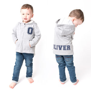 Personalised Flock Baby And Toddler Hooded Jacket - clothing