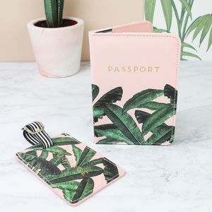 Botanical Luggage Tag And Passport Cover Set