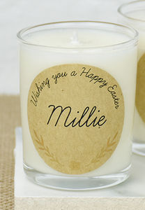 Easter Personalised Candle - summer sale