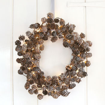 Frosted Pinecone Wreath