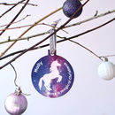 Personalised Stardust Unicorn Bauble