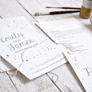 Gold Details Wedding Invitation