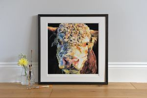 Herbie Hereford Bull Print - animals & wildlife