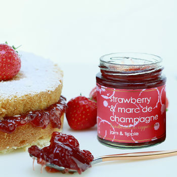 Strawberry And Marc De Champagne Jam Three Pack
