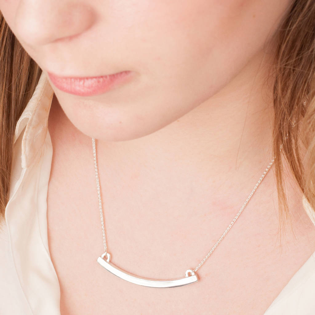 Minimalist Sterling Silver Bow Necklace