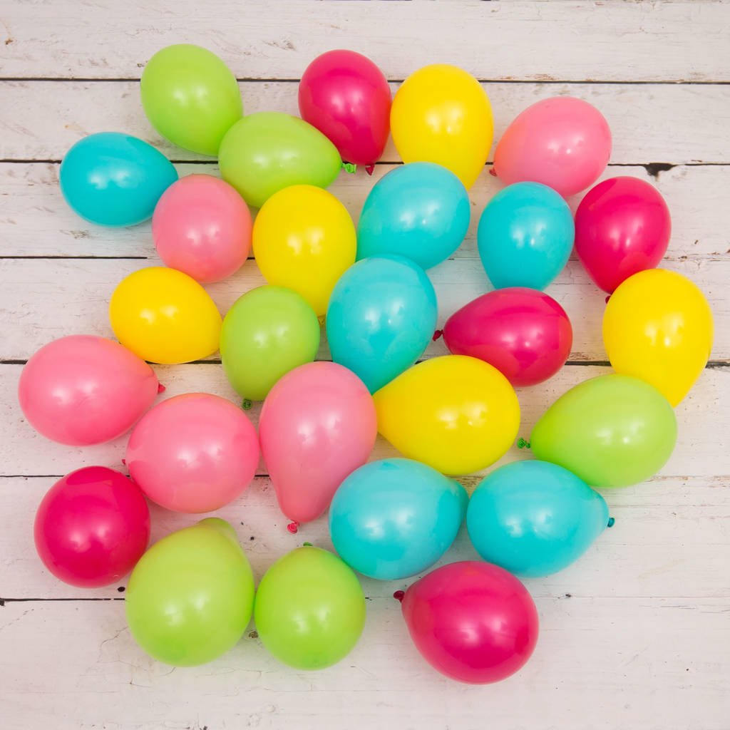 Pack Of 28 Tropical Mini Balloons