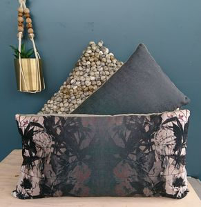 Green Floral Illustration Velvet Cushion - view all new