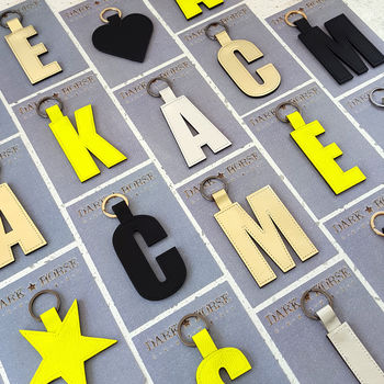 New Alphabet Leather Key Ring