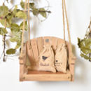 Personalised Swing Seat Birdfeeder And Seed Bag