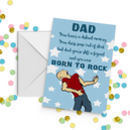 Dad Born To Rock Card