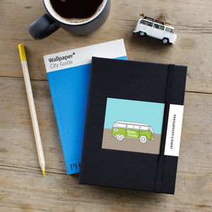 Happy Travels Camper Van Personalised Notebook