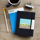 Happy Travels Camper Van Personalised Notebook