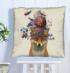 Decorative Cushion Fox And Artichoke - baby's room