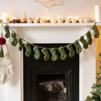 Mini Stocking Garland Knitting Kit