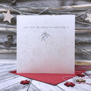 Mistletoe Personalised Christmas Card