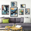 Abstract Art Prints Set Gallery Wall Five Prints