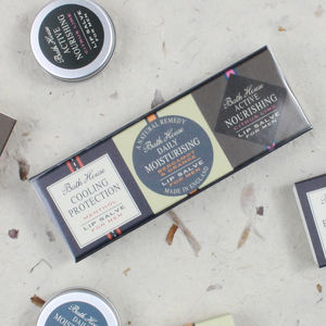 Mens Lip Salve Gift Set Trio - stocking fillers