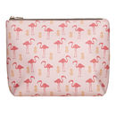 Flamingo And Pineapple Wash Bag