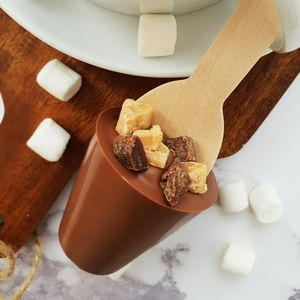 Fudge Brownie Hot Chocolate Spoon Gift - teas, coffees & infusions