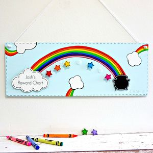 Personalised Rainbow And Stars Reward Chart - new in prints & art