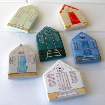 Beach Hut Fridge Magnets