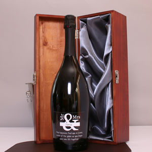 Personalised Mr And Mrs Magnum Prosecco Gift - wines, beers & spirits