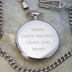 Personalised Romantic Pocket Watch - valentine's gifts for him