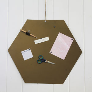 Brass Magnetic Memo Board