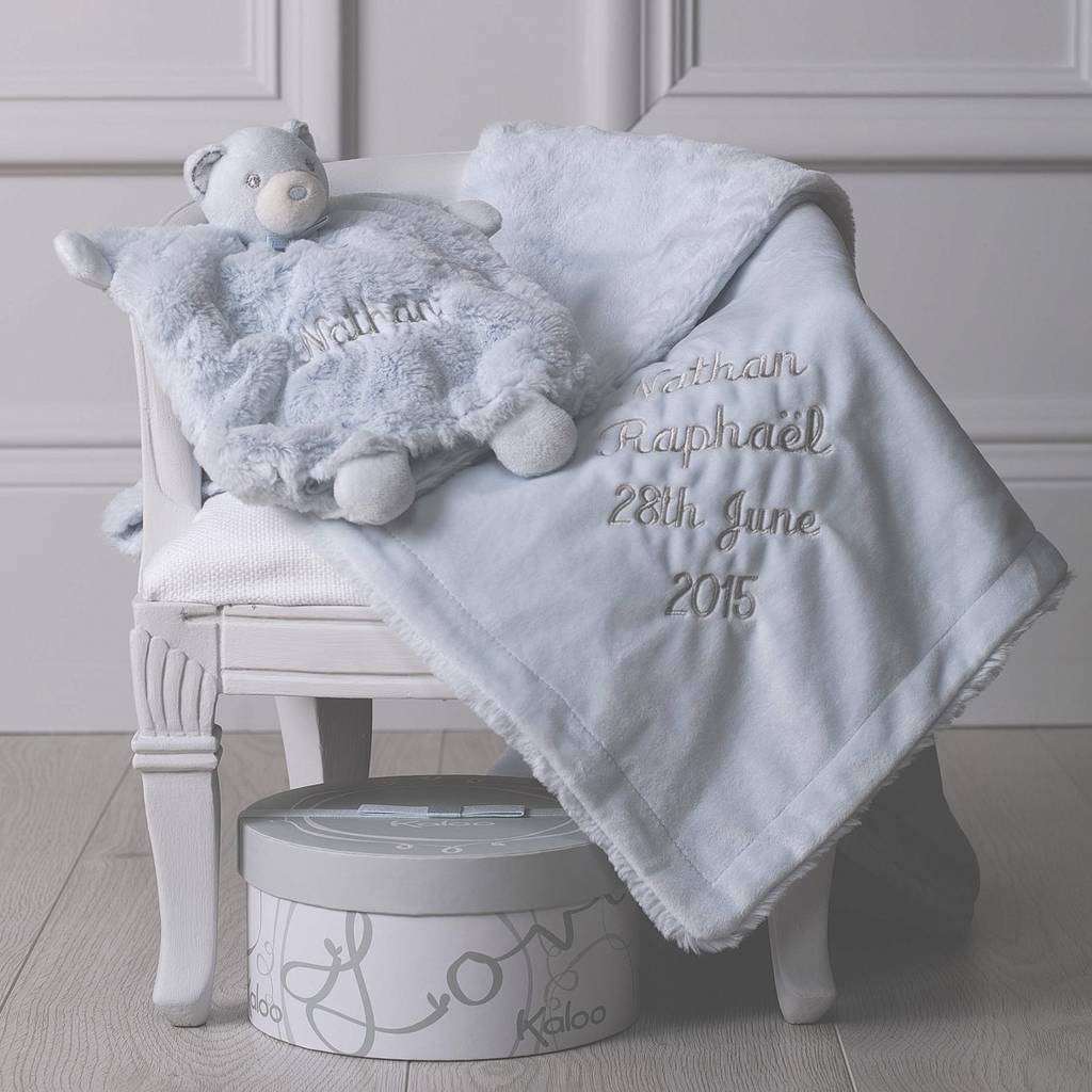 Personalised Baby Christening Blanket And Comforter Set