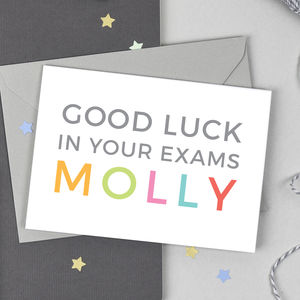Personalised Good Luck In Your Exams Card - whatsnew
