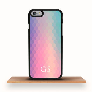 iPhone Case Rainbow Hexagons Personalised