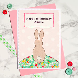 'Bunny' Personalised Girls Birthday Card
