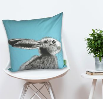 The Runners Number Five Hare Cushion