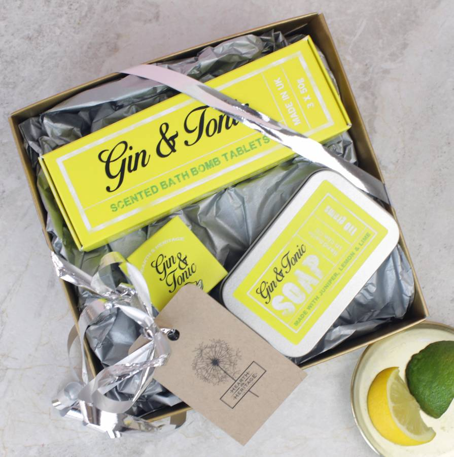 Gin Themed Treat Gift Box By Hearth Heritage