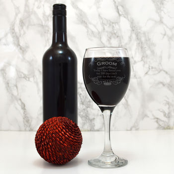 Personalised Wine Glass Gift For The Groom
