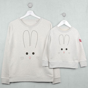Bunny Face Sweatshirt Jumper Set