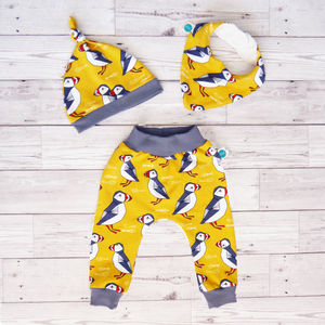 Puffins Baby Set - trousers & leggings