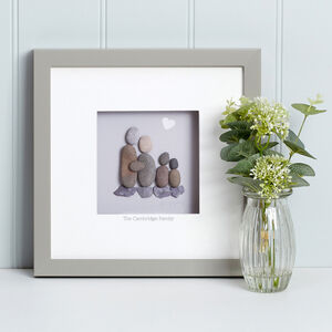 Personalised Family Pebble Picture