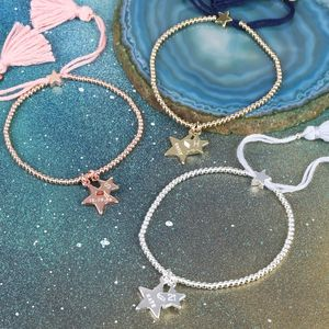 Personalised Double Star Charm Dainty Links Bracelet - bracelets & bangles