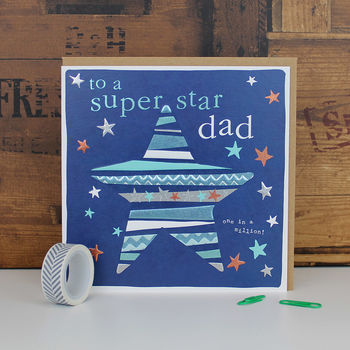 Dad Birthday Card Super Star