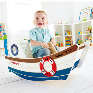 Wooden Rocking Boat - gifts for babies & children