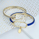 Amelie Soft Gold And Leather Bangle