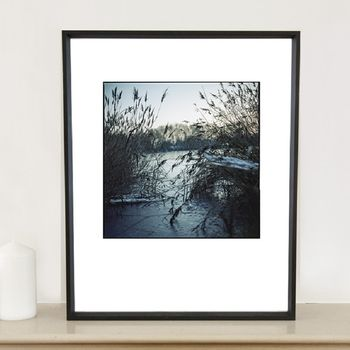 Frozen Lake, Wivenhoe Photographic Art Print