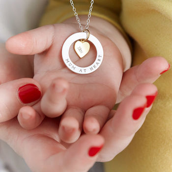 Personalised Heart Halo Necklace