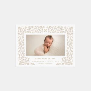 20 Harvest Photo Birth Announcements Thank You Cards - new baby cards