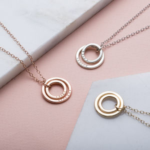 Personalised 9ct Gold Baby Names Necklace - fine jewellery